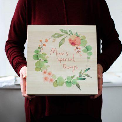 Personalised Mum's Special Things Keepsake Box