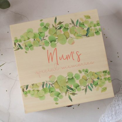 Personalised Mum's Special Memories Keepsake Box
