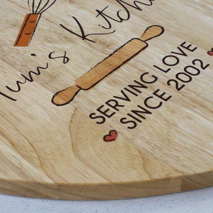 Personalised Mum's Kitchen Chopping Board