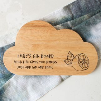 Personalised Gin Board, Gin Lover's Gift