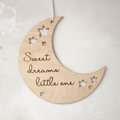 Moon And Stars Nursery Sign