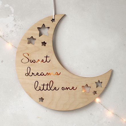 Moon And Stars Nursery Sign