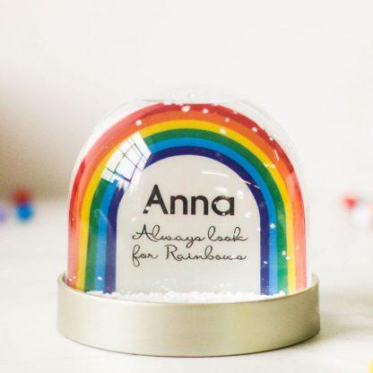 Personalised Rainbow Snow Globe