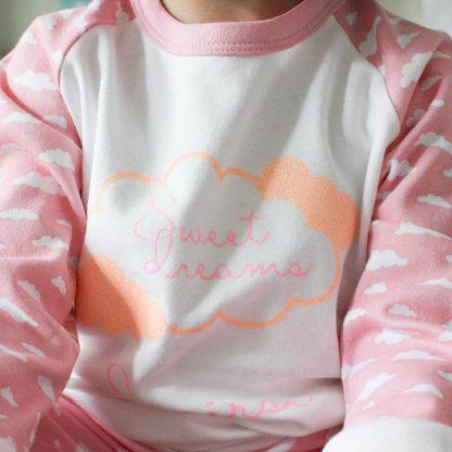 Personalised Cloud Pyjamas, Sweet Dreams