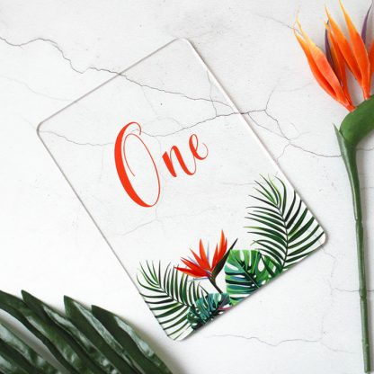 Tropical Hothouse Table Number