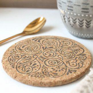 Mandala Cork Coaster