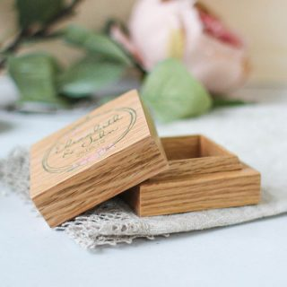Personalised Ring Box, Oak