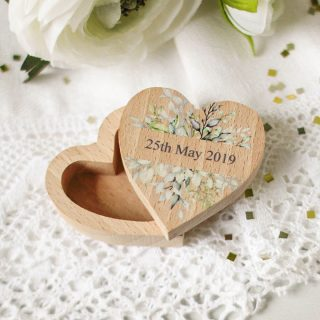 Personalised Heart Shaped Ring Box