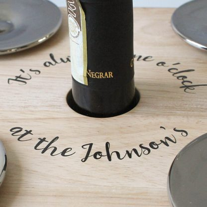 Personalised Wine And Bottle Holder