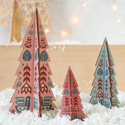 Christmas Tree Set, Folk Design
