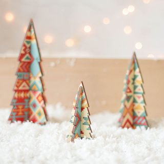 Christmas Tree Set, Aztec Design