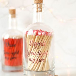 Personalised Bottle Of Matches, Light My Fire