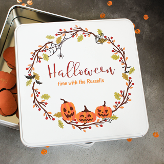 Personalised Halloween Storage Tin