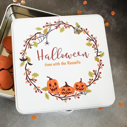 Personalised Halloween Storage Tin