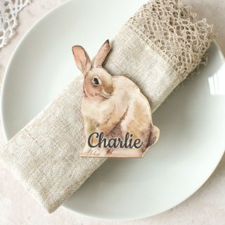 Personalised Place Setting, Rabbit EARFPTB002UV