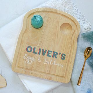 Personalised Eggs And Soldiers Toast Board EARFPTB006UV