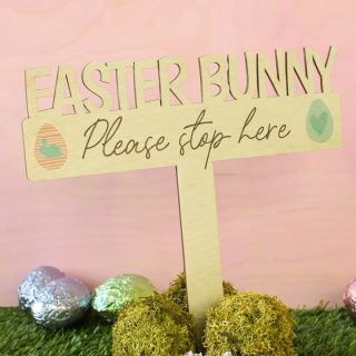 Easter Bunny Stop Here Sign EARFSI001UV