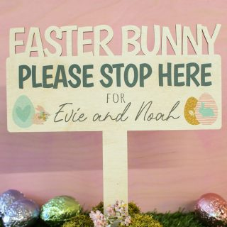 Personalised Easter Bunny Sign EARFSI002UV