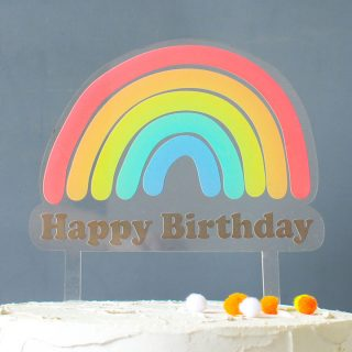 Happy Birthday Rainbow Cake Topper RFCK001UV