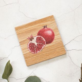 Oak Coaster, Pomegranate Design RFCOUV001