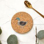 Cork Coaster, Duck Design RFCOUV003