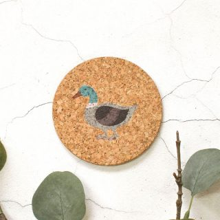 Cork Coaster, Duck Design RFCOUV003