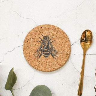 Cork Coaster, Bee Design RFCOUV004