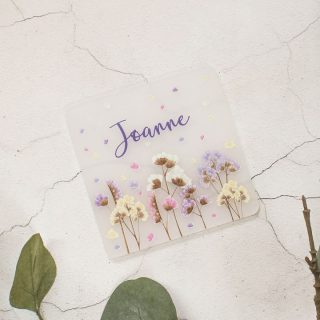 Personalised Coaster, Dried Flowers RFPCOUV001