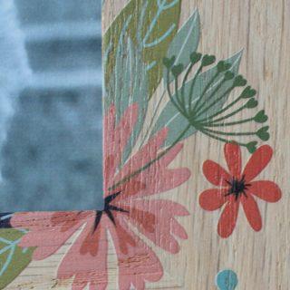 Oak Frame With Flower Design RFPF002UV