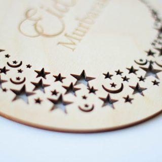 Eid Mubarak, Cutout Stars Design EIRFSI002