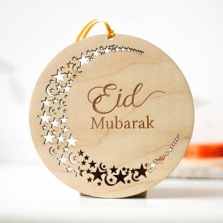 Eid Mubarak, Cutout Stars Design