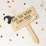 Personalised Halloween Witch Sign HNRFPSI002UV