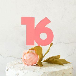 16th Birthday Cake Topper RFCK00216