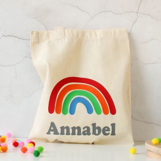 Personalised Rainbow Gift Bag, Solid Colours RFPBG004
