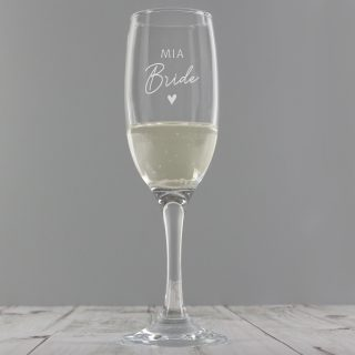 Personalised Bride Champagne Flute Glass PMCP0107G37