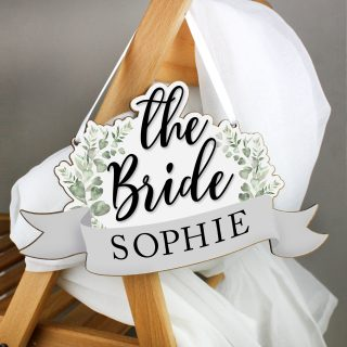Personalised The Bride Wooden Hanging Decoration PMCP071193