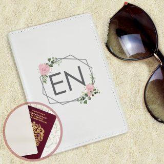 Personalised Floral Cream Passport Holder PMCP1014B46
