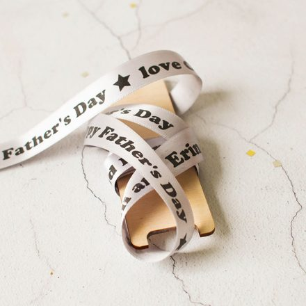 Personalised Ribbon, Happy Father's Day, 15mm RFPRI001