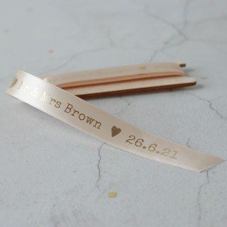 Personalised Ribbon, Surname And Date, 15mm RFPRI003