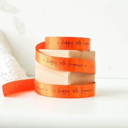Personalised Ribbon, Happy Birthday With Name, 15mm RFPRI007