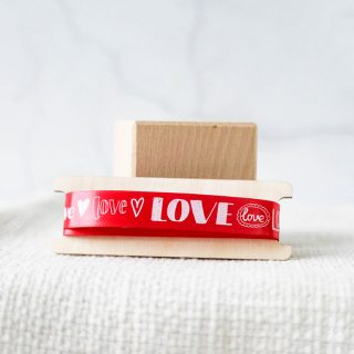 Giftwrap Ribbon, Love, 15mm RFPRI009