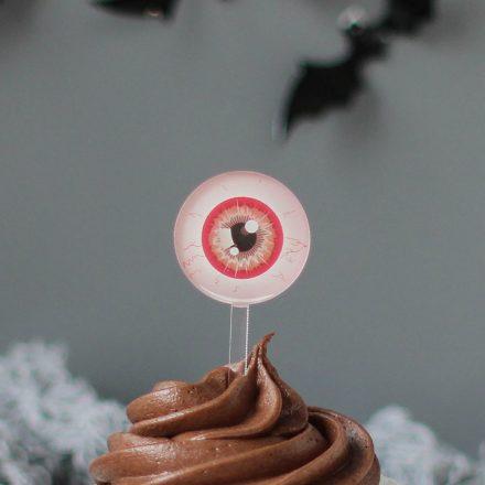 Halloween Eyeball Cake Toppers, Set Of Six HNRFTB001UV
