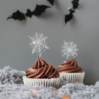 Halloween Spiderweb Cake Toppers, Set Of Four HNRFTB002