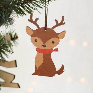 Winter Woodland Animals, Set Of Four Decorations JLXMRF001UV