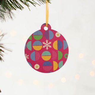 Christmas Tree Decoration, Bright Geometric Set Of Four JLXMRF002UV