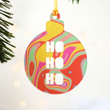 Christmas Tree Decoration, Bright Swirl, Set Of Three JLXMRFHA002UV