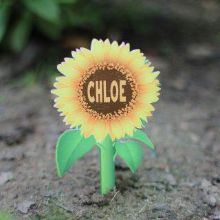Personalised Mini Sunflower Plant Label RFPSI003UV