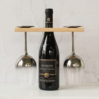 Personalised Wine Bottle And Glasses Holder For Two RFPTB006UV