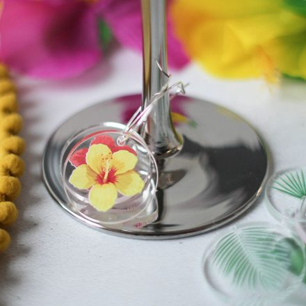 Tropical Glass Charms, Set Of Eight RFTB033UV