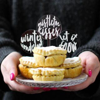 Mince Pie Or Cupcake Toppers, Set Of Six XMRFTB003
